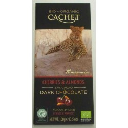 CHOCOLATE BIO CEREZA ALMENDRAS 57% CACAO